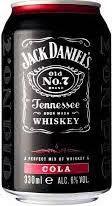 Jack Daniels Cola Pre-mix blik 330ml