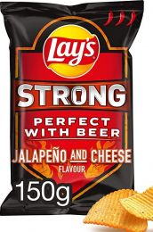 Lays Strong Japaleno and Cheese zak 150gr