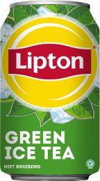 Original Lipton Ice Tea Green blik 330 ml tray 24 stuks