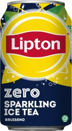 Lipton Ice tea sparkling ZERO Blik tray 24x330 ml